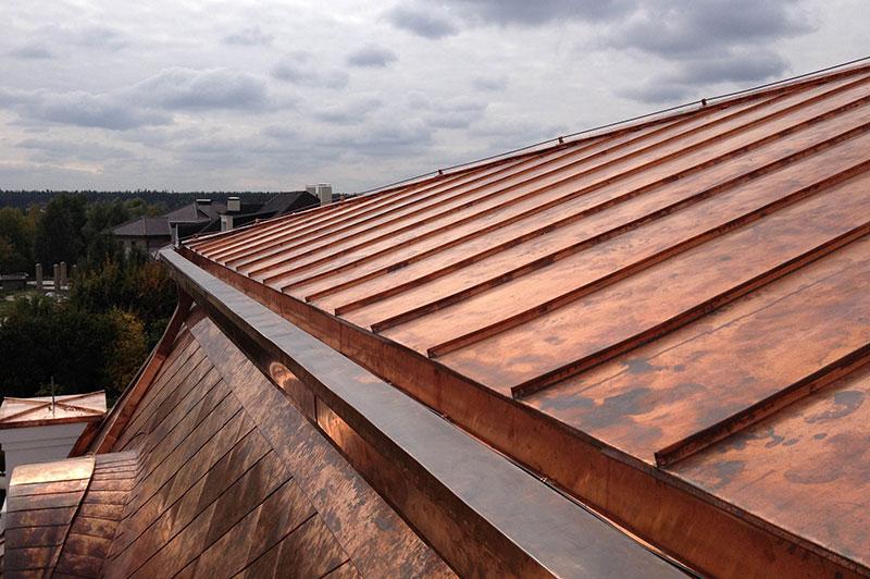 Copper roof strip