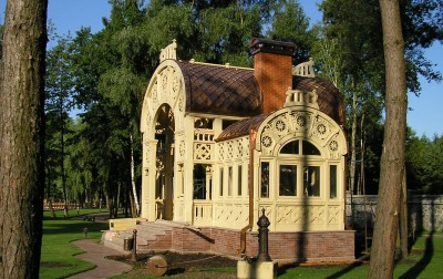 Copper tile roofing, garden-house, Kiylov village